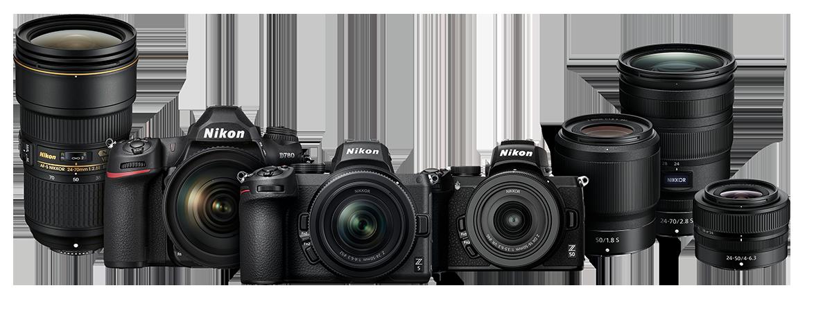 Nikon Line Kameras und Objektive