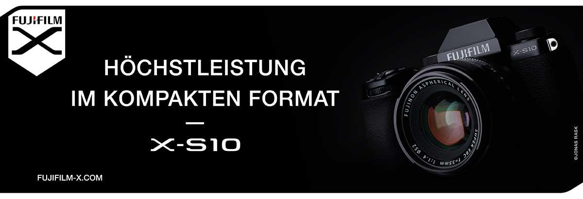 Höchstleistung im kompakten Format – die spiegellose Systemkamera FUJIFILM X-S10