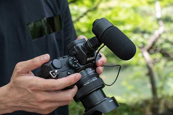 Nikon Z5 mit Mikrofon